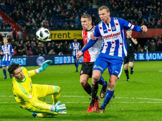 Feyenoord laat in De Kuip twee punten liggen tegen Heerenveen