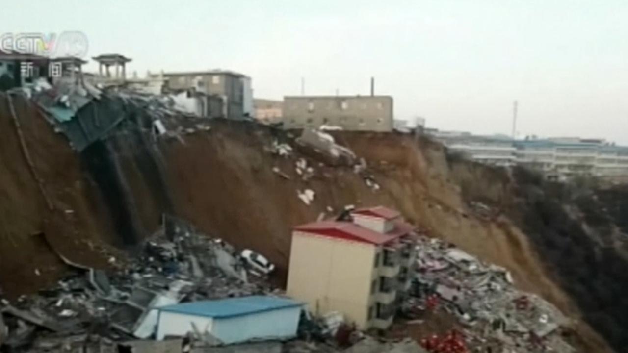 Huizen Weggespoeld Door Aardverschuiving China Nu Het Laatste
