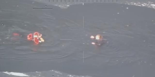 Redding vrouw uit ijskoud water gefilmd: 'Ik ben die agent heel dankbaar'