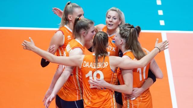 Volleybalsters sluiten Nations League af met zege op Rusland