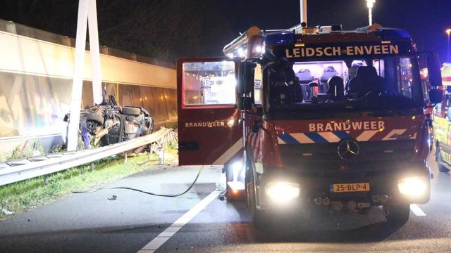Vier doden door ongeval met personenwagen op A12 bij Den Haag