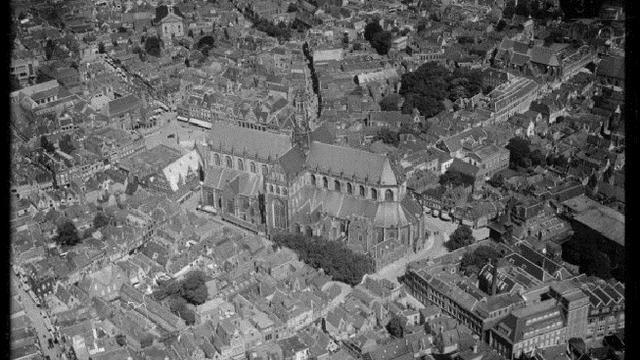 Zo zag een vooroorlogs Haarlem eruit vanuit de lucht