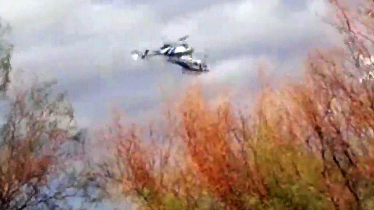 Beelden helikopterbotsing Argentinië