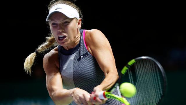 Wozniacki na zege op Halep vrijwel zeker van halve finales WTA Finals