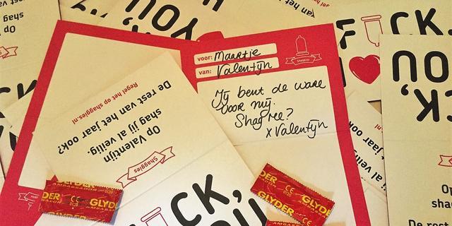 Utrechts Shaggies verstuurt gratis valentijnskaarten mét condoom