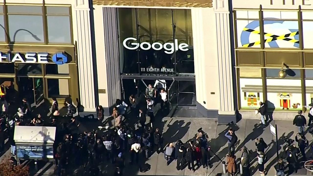 Google-medewerkers lopen wereldwijd uit protest kantoor uit