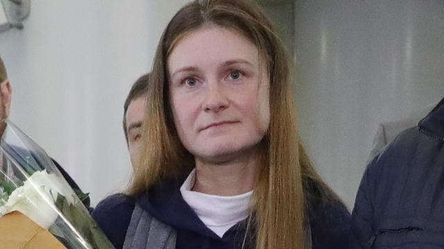 Russische spion Maria Butina terug in Moskou na vrijlating in VS