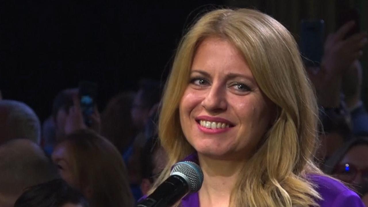 Eerste vrouwelijke president Slowakije krijgt applaus