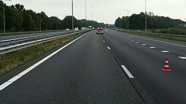 A73 weer vrij na ongeluk met spookrijder.