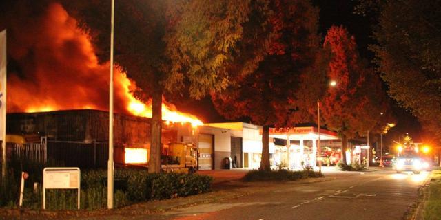 Veel rookontwikkeling bij grote brand in Gorinchem