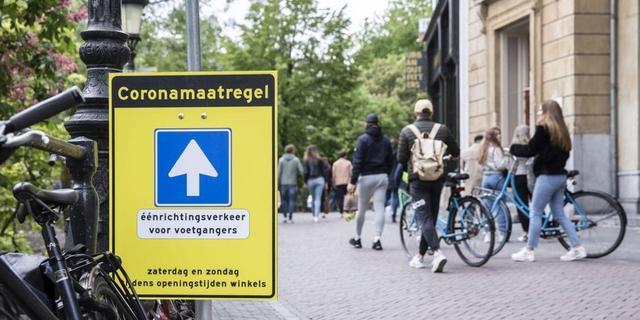 Tijdelijk meer ruimte voor voetgangers in Utrechtse binnenstad