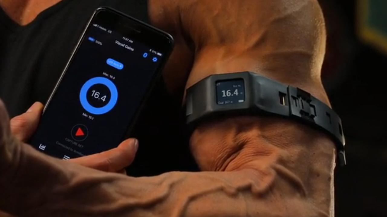 Wearable toont groei van biceps tijdens trainen