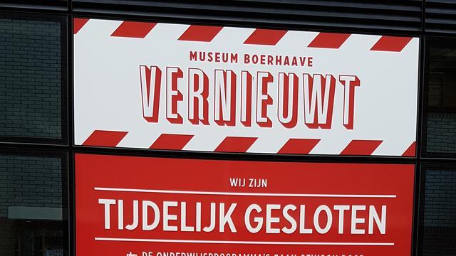 Museum Boerhaave maanden langer dicht