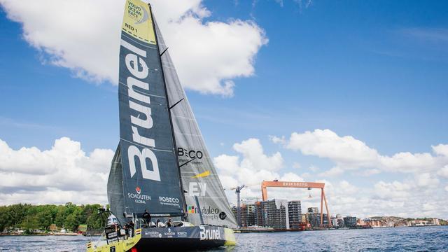 Team Brunel wint laatste havenrace Volvo Ocean Race