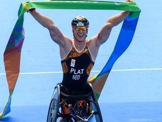 Geert Schipper pakt zilver op triatlon