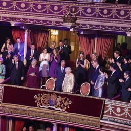 Koningin Elizabeth viert 92e verjaardag bij groots concert in Londen