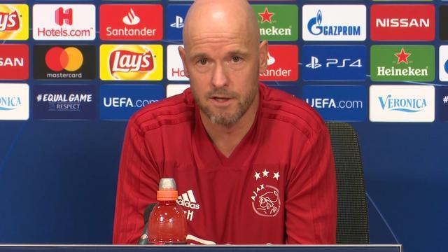 Ajax-trainer Ten Hag: 'Duel met Benfica is sleutelwedstrijd'