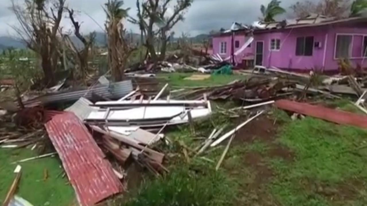 Dronebeelden tonen ravage op Fiji na cycloon Winston