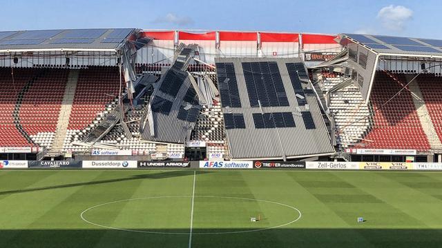 AZ speelt komende twee thuisduels in Den Haag na instorten dak stadion