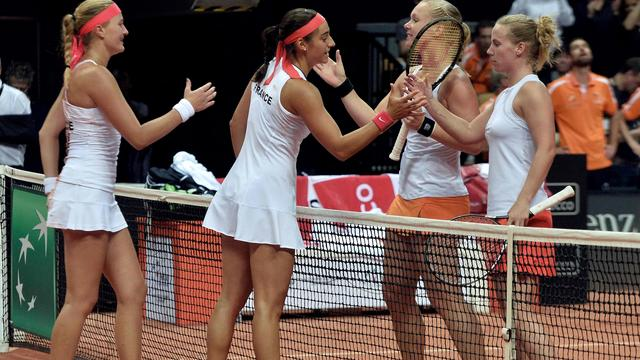 Fed Cup-team met 3-2 onderuit in halve finale tegen Frankrijk