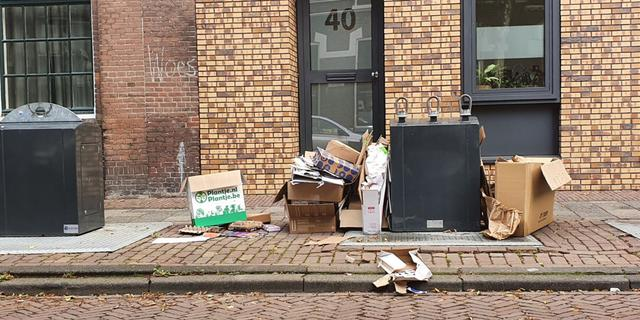 Ondergrondse containers in Leiden tijdens jaarwisseling afgesloten