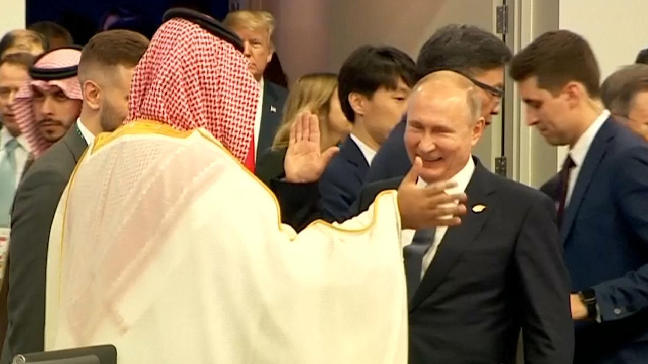 Poetin moet lachen om grapje Saoedische kroonprins