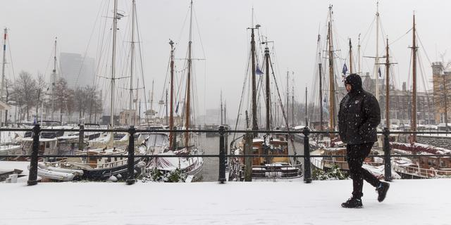 Zaterdag in vrijwel het hele land sneeuw, code geel vanwege gladheid