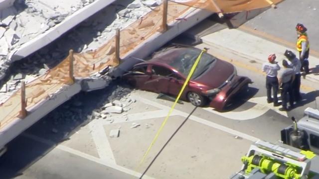 Luchtbeelden tonen ravage ingestorte brug Florida