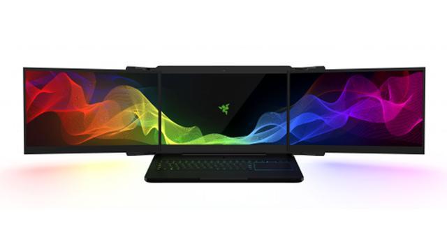 Razer onthult laptop met drie 4K-schermen