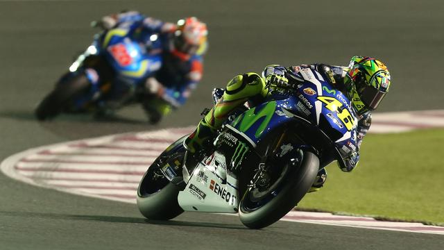 Rossi start als vijfde in eerste race MotoGP, Lorenzo op pole