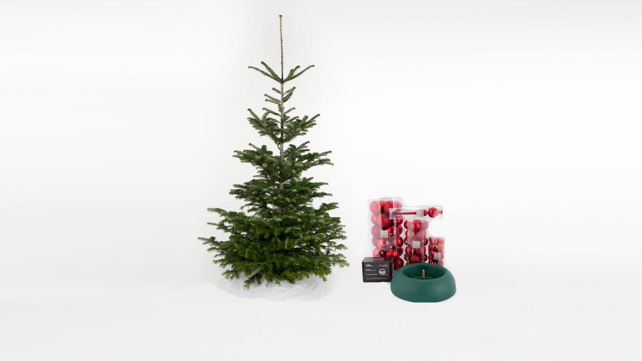 Nordmann Christmas Tree Including Decoration With Discount And Free