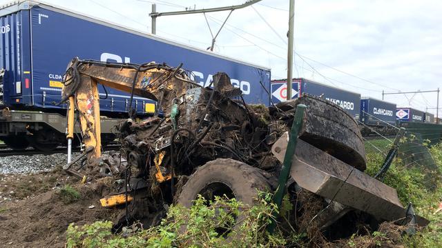 Geen treinen op traject Eindhoven-Venlo na botsing goederentrein