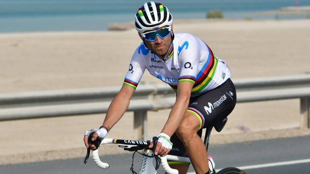Wereldkampioen Valverde wint eerste bergetappe Ronde van VAE