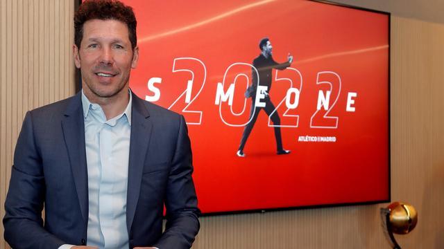 Simeone verlengt contract bij Atlético Madrid met twee jaar tot 2022