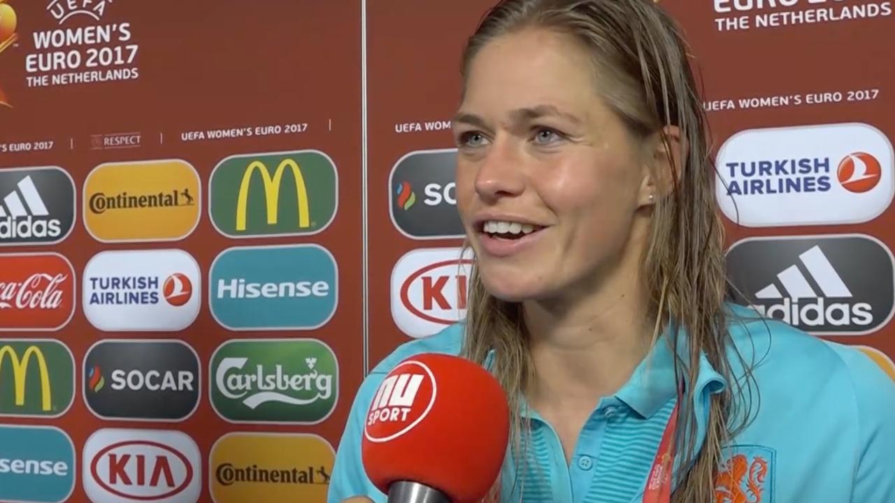 'Speelsters Oranje schreeuwden zich schor na bereiken finale'