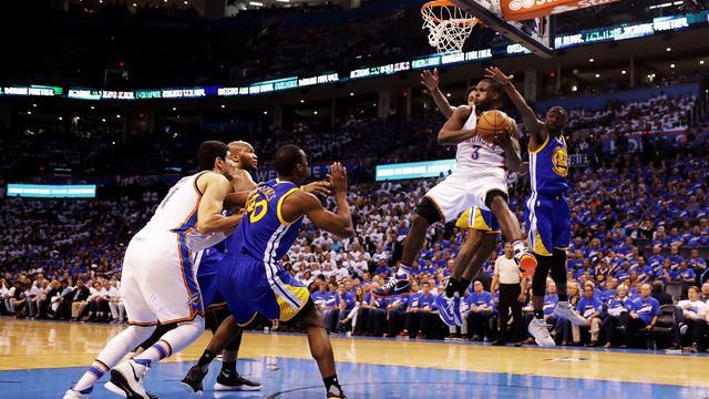 Thunder op voorsprong tegen Warriors door zeer ruime zege