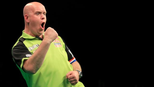 Van Gerwen verslaat Lewis op Grand Slam of Darts, Harms onderuit