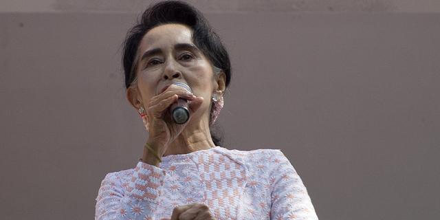 Partij Suu Kyi behaalt absolute meerderheid Myanmar