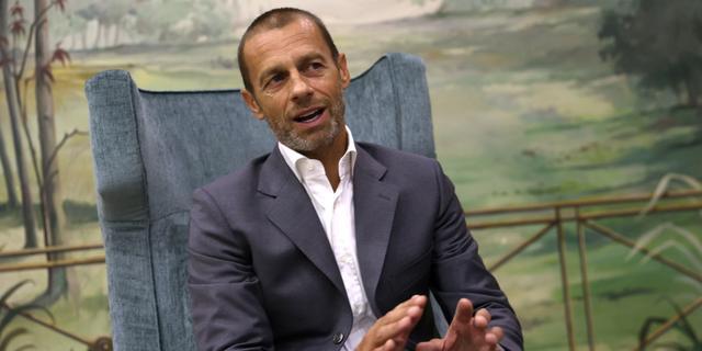 UEFA-voorzitter Ceferin enthousiast over CL-format zonder dubbele duels