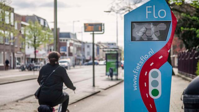 Utrechts verkeerslicht helpt fietsers groen licht te halen