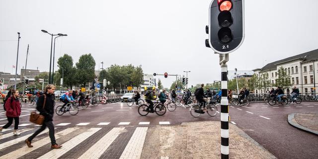 Kruispunt bij Catharijnesingel en Vredenburgknoop heeft nieuwe inrichting