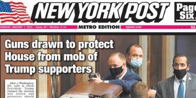 Amerikaanse kranten openen met bestorming van Capitool