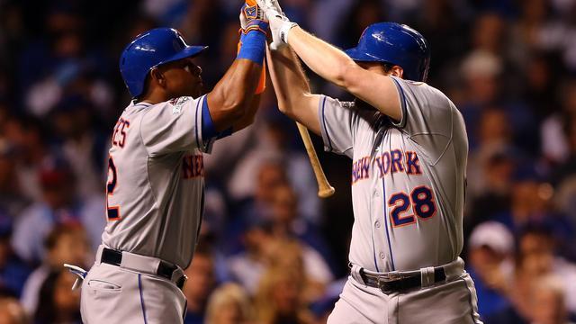 Honkballers Mets en Royals één zege verwijderd van World Series
