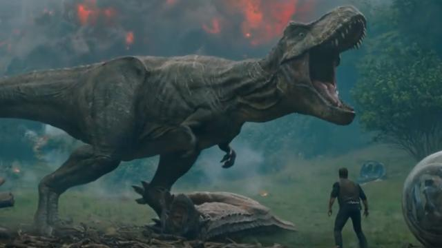 Chris Pratt vlucht voor vulkaanuitbarsting in eerste trailer Jurassic World 2
