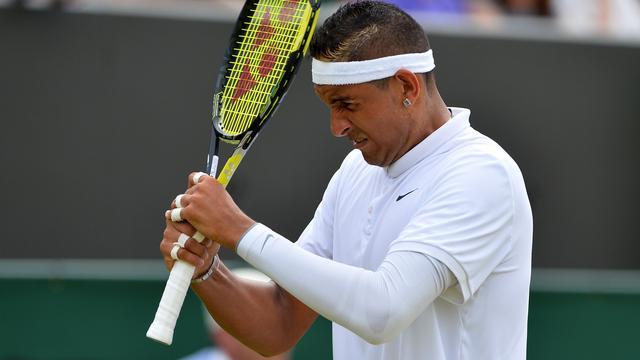 Kyrgios 'geschokt' door kritiek op zijn optreden op Wimbledon