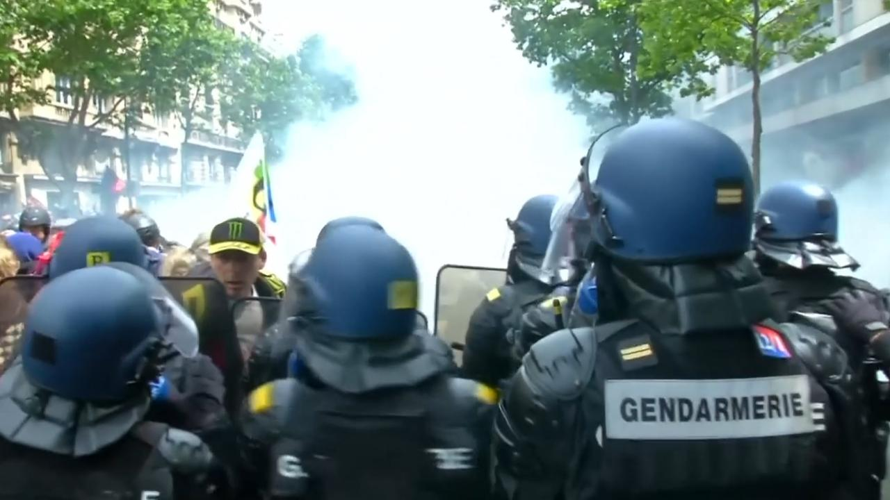 Rellen bij demonstraties in Parijs