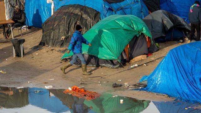 Uitbraak mazelen in vluchtelingenkamp Calais