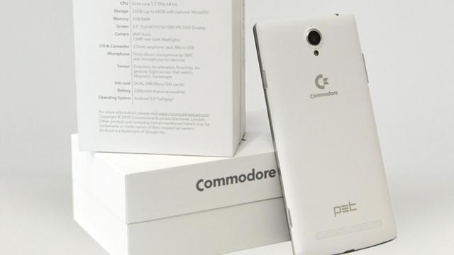 Computermerk Commodore verschijnt op nieuwe smartphone
