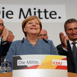 Exitpolls: Duitse bondskanselier Merkel op weg naar verkiezingswinst