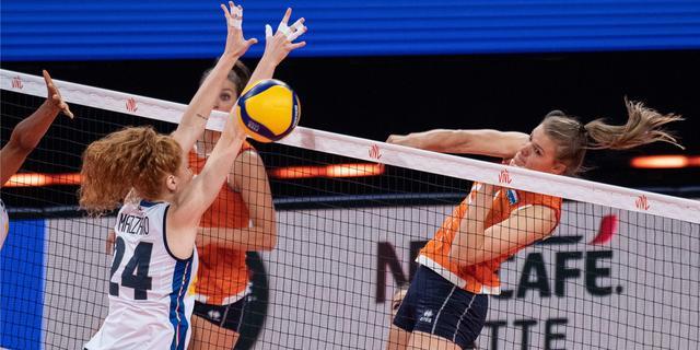 Volleybalsters knokken zich terug en verslaan Italië in Nations League